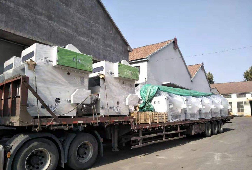 羊绒联合生产线设备发往内蒙古